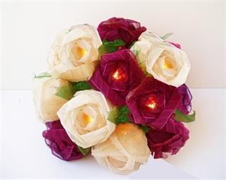 Picture of Burgundy & Cream Roses