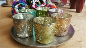 Picture of Small Crackled Glass Votive