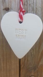 Picture of Ceramic Heart - Best Mum